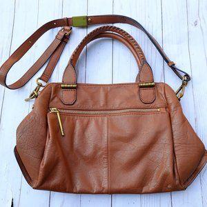 Elliot Lucca Brown Leather 2-way Sling Bag M